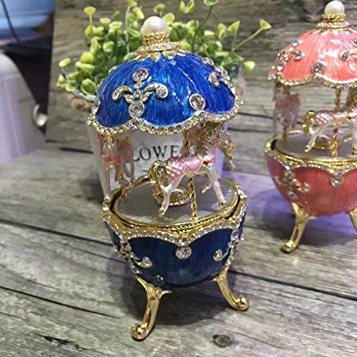 European royal wedding gift egg music box Faberge style e...