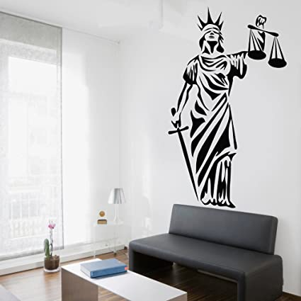 Wall Artemis Decal Vinyl Sticker Libra Law Office Decor Modern Mural Art  Ornament Removable Glass