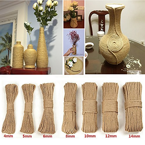 Diy Rope Craft Projects To Do At Home: 100% Natural Strong Jute Twine Rope Hemp Rope Cord For
