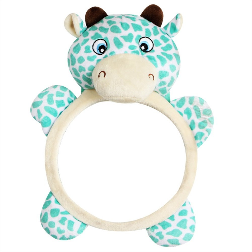 Royarebar Women's Accessories Cosmetic Mirror Kids Infant Lovely Deer Rolling Hand Grasp Mirrors Toy Colorful Safety Mirror Gift