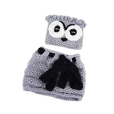 0d540e6b9905 Bonnet d hiver en Laine Hibou Chapeau d enfants en Laine d hiver ...
