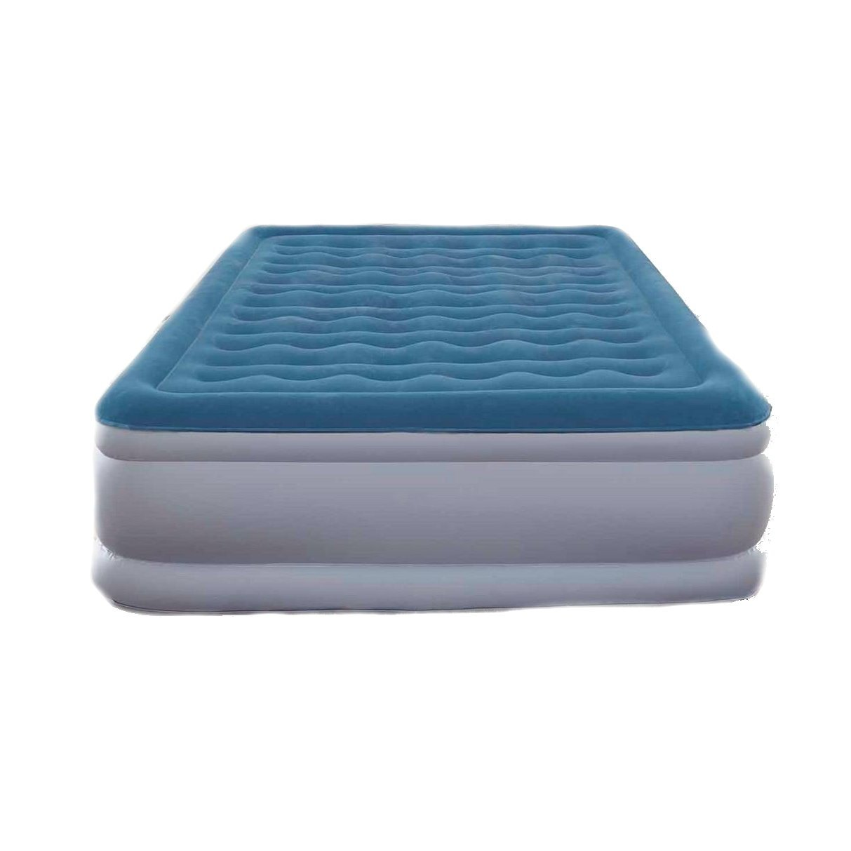 Air Mattress. This Raised Blow Up Airbed w/ Iflex & Built In Electric Pump For Rest, Deep Healthy Sleep, Adults, Indoor & Outdoor. Inflatable Bed Is Best As Camping Or Guest Bed & Sleepover (Full)