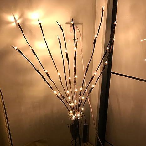 Duanmei Decoración de luces de rama Luces de rama de LED en interiores Ramas de árbol