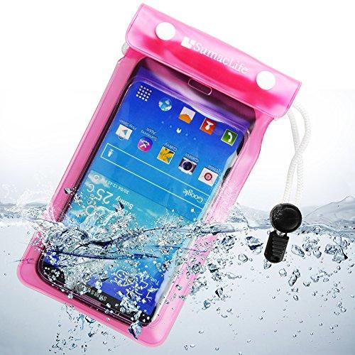SumacLife Waterproof Pouch Case for Samsung Galaxy Mega 2 / BLU Studio 6.0 HD / BLU Life Pure XL Full HD / VIVO IV Full HD Super Amoled (Pink) -  Sumaccn, 4326487472