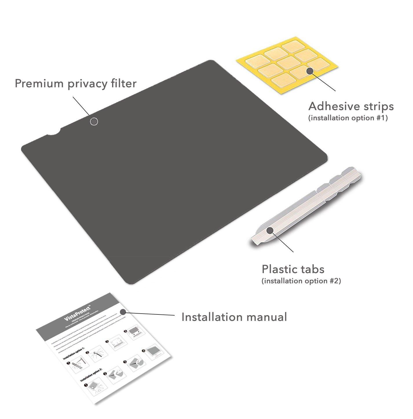 VistaProtect - Filtro de Privacidad Premium, Privacy Screen filter, Protector de Pantalla para Ordenador & Monitor (24″ pulgadas - 16:9): Amazon.es: ...