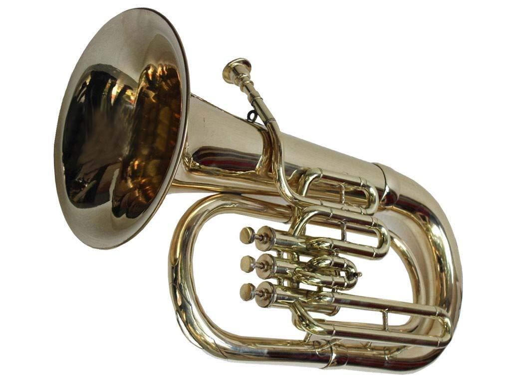 NASIR ALI BEAUTIFUL Euphonium Brass Bb 3 valve Free Carrying Bag & Mouthpiece