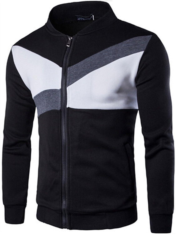 Next Class Men's Casual Slim Zipper Sports Jacket Coat Sweatshirt ...