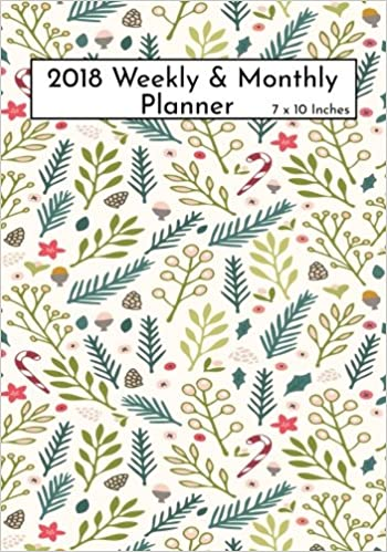 2018 Weekly Monthly Planner 7 X10 Inches Calendar Schedule