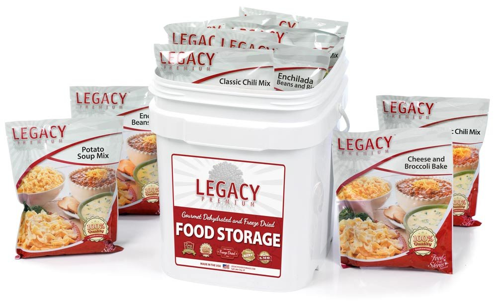 Long Term Gluten Free Food Storage: 60 Large Servings - 16 lbs Emergency Survival Meals - Disaster Insurance Supplies with 25 Year Shelf Life - Prepper by Legacy Premium Food Storage