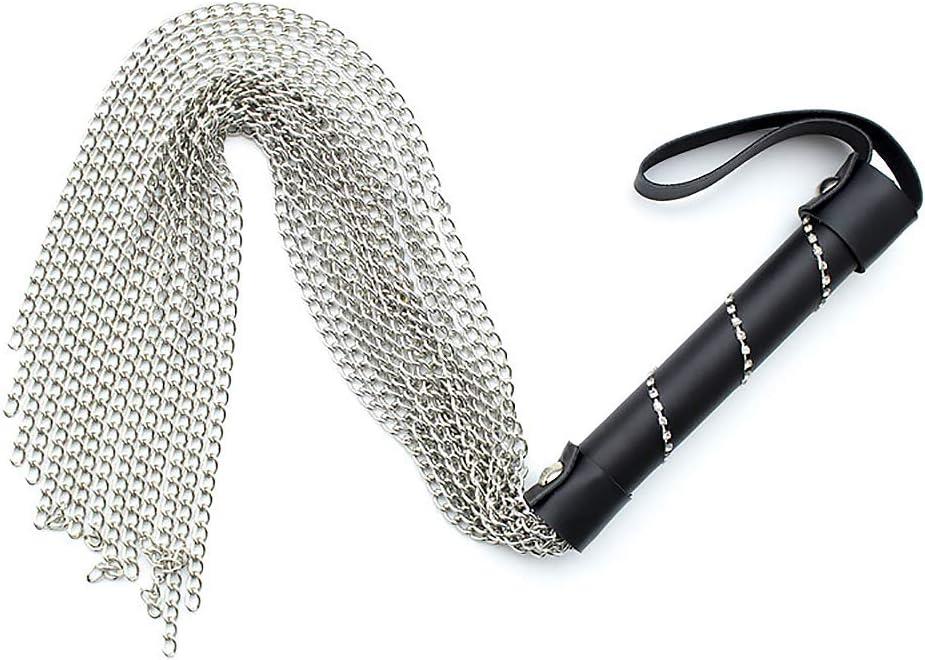 KIMMAO PU Whip Bońd/áge Riding Stage /âd/ûlt Play Chain Whisker-Drill Handle Stage Props /šp/â-ňkǐng Whip