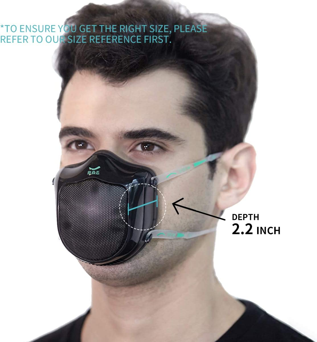 Mascarilla Xiaomi Q5S antipolución filtro de carbón activado, máscara automática de purificación de aire fresco a prueba de polvo para alergia al polen, polvo, gas de escape
