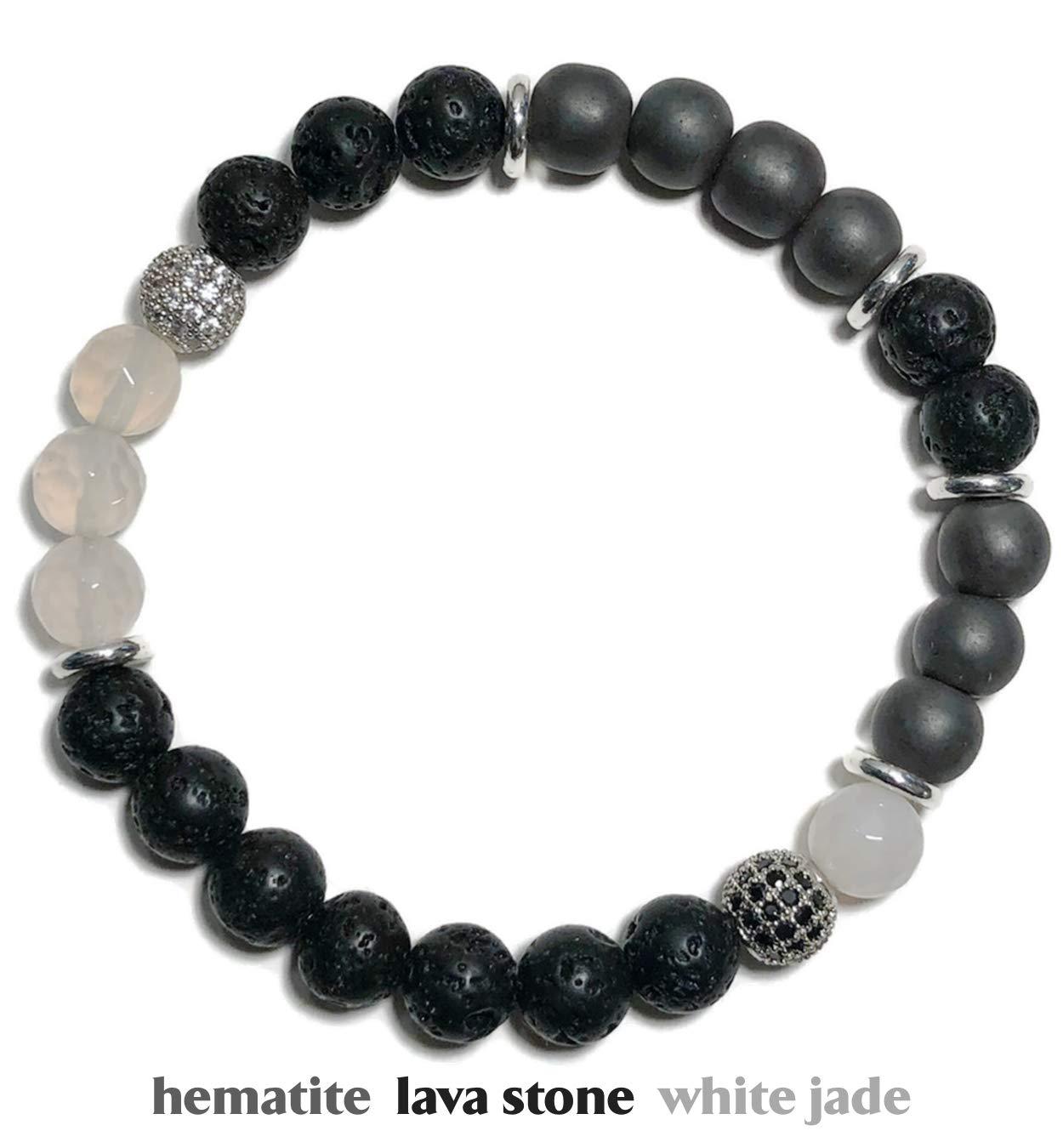 LOVE Bracelet, Natural Strawberry Quartz Charm Bracelet, Beaded Meditation Spiritual Stretch Mantra Reiki Healing Energy Boho Chakra Wrap Yoga Buddhist Jewelry & Gemstone Gifts | SOULMATE (7.5) by KarmaArm