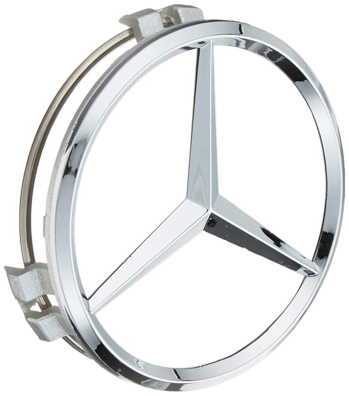 UG 4X Tappi Coprimozzo 75mm Logo Mercedes Nero Rialzato AMG Classe A B C E CLA CLK M ML S 4Matic per Borchie Cerchi Lega