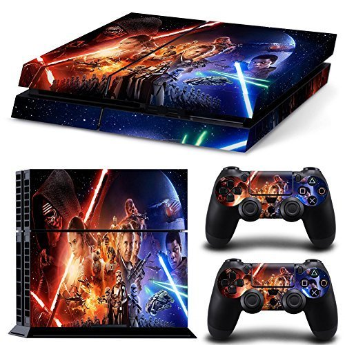 FreeSticker® PLAYSTATION 4 Designer Skin Game Console System 2 Controller Decal Vinyl Protective Stickers Sony PS4 - STAR WARS SPACE FORCE ALL EPISODES (Vinyl Force Skin)