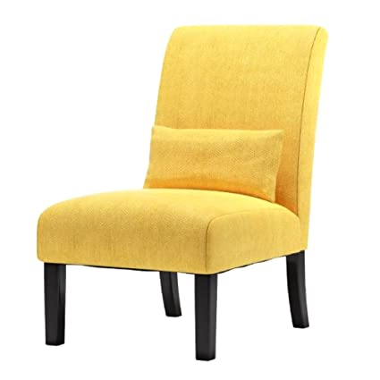 Amazon.com: Chenille Accent Chair Υellow Color Elegant Design Home Living  Room Office Upholstered Fabric Decorative Solid Wood Legs Modern Stardy  Stylish ...