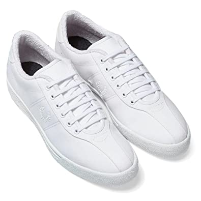 1bc94a552 Amazon.com: Fred Perry Mens B1 Tennis Canvas Trainers White: Shoes