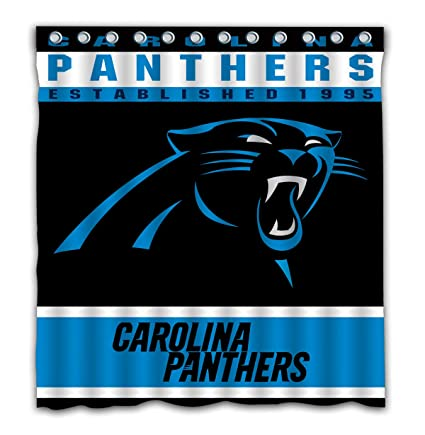 Image Unavailable Not Available For Color Potteroy Carolina Panthers Team Design Shower Curtain