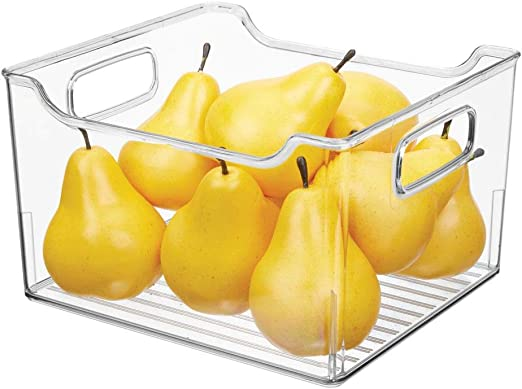 mDesign Caja para nevera con asas – Organizador de frigorífico ...