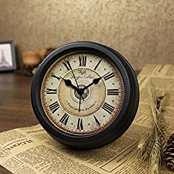 Brandream Luxury Vintage Small Wall Clock Classic Desk Clock 6 Inch Diameter