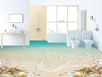 Fußboden 3d Bilder ~ Lwcx strand starfish bad pvc wasserdicht tapete fußboden d