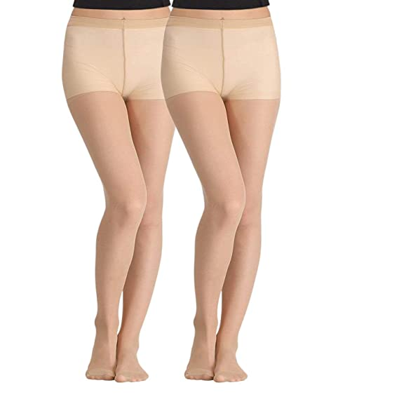 7411dcd9bba93 Cotson Women High Waist Beige Stockings Fiber Excellent Stretch Sheer Tights  Long Comfort Super Soft Pantyhose Pack of 2: Amazon.in: Clothing &  Accessories