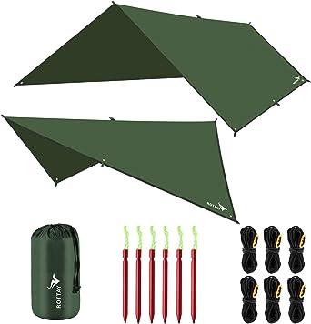 Rottay Waterproof Multifunctional Camping Tarp/Tent