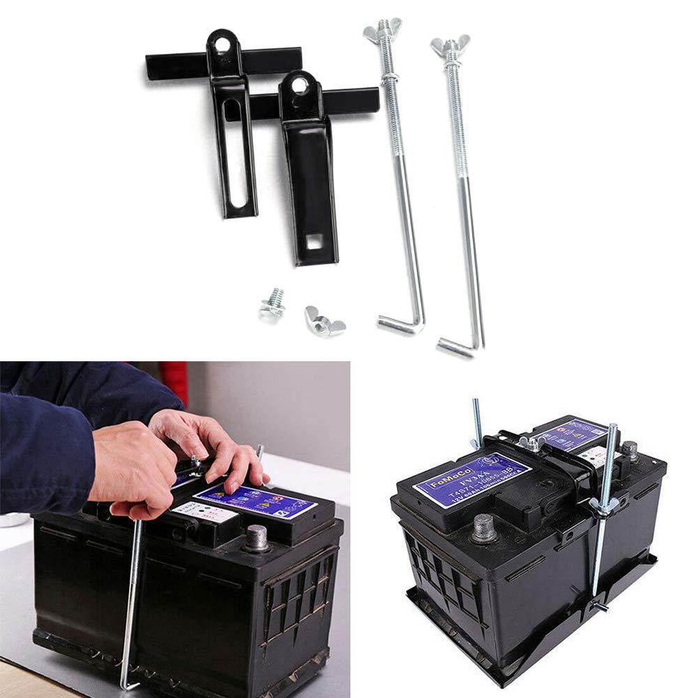 PoeHXtyy Universal Car Storage Battery Holder Hold Down Tray Adjustable Stabilizer Bracket Crossbar