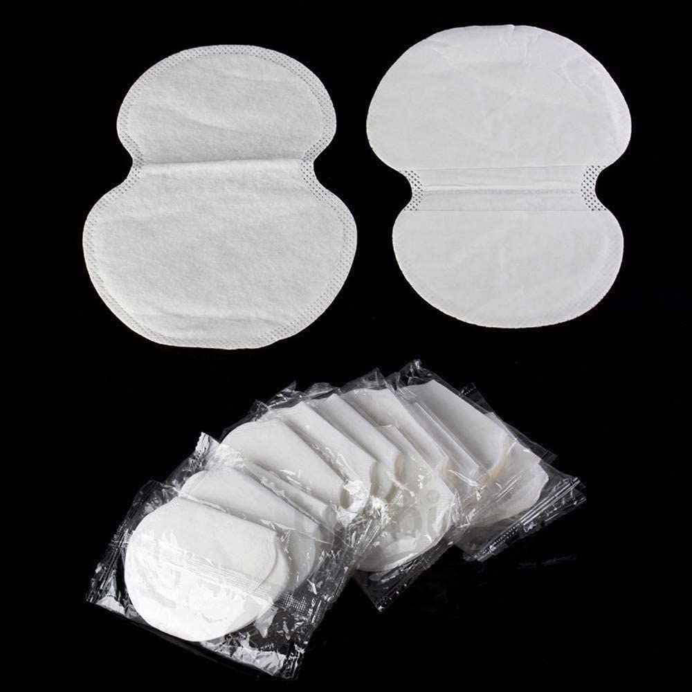 Non Visible Shipping From CA Transser Underarm Sweat Pads 100 pcs, White Disposable Dress Guards//Shields or NJ. PREMIUM QUALITY Fight Armpit Hyperhidrosis for Men Women Odor Blocker Adhesive