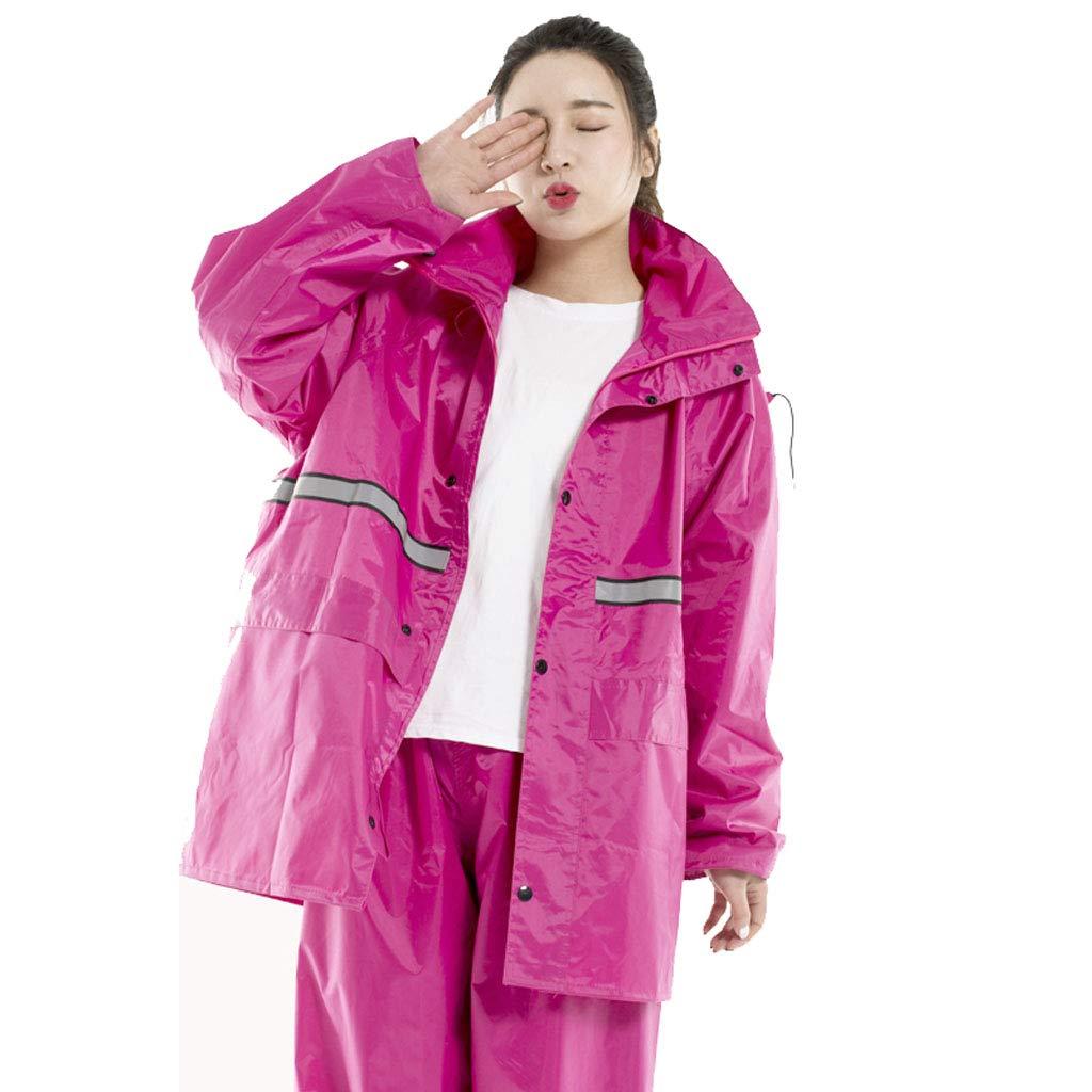 violet 4XL ZYMNL-YY VêteHommests de Pluie, vêteHommests de Sport Imperméable pour Hommes et Femmes Split Manteau Veste pour Adultes avec Un Pantalon de Costume, VêteHommests de Pluie Imperméable pour Moto