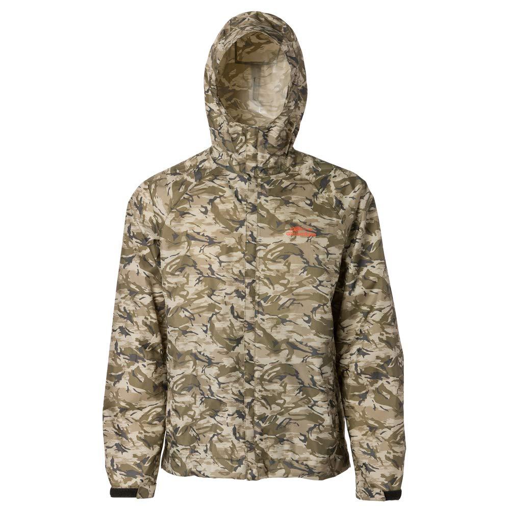 Grundéns Weather Watch Hooded Fishing Jacket, Refraction Camo Stone - X-Large by Grundéns