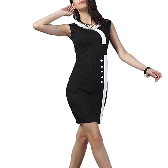 Mujer Vestidos Vestido De Fiesta Vestidos Cocktail Falda Lapiz Sin Mangas Longitud De La Rodilla Vestido
