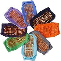 Copiel Niñito Tobillo Calcetines, 8 pares de calcetines antideslizantes para niños, puños de algodón Calcetines cálidos…