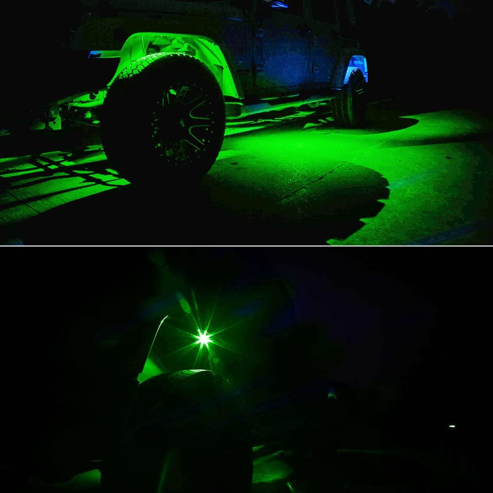 Amak 4 Pods LED Rock Light Kit for JEEP ATV SUV Offroad Car Truck Boat Underbody Glow Trail Rig Lamp Underglow LED Neon Lights Waterproof