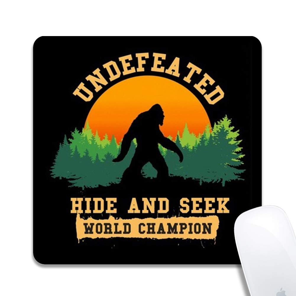 Mouse Pad Hide and Seek World Champion Bigfoot Mousepad Round Mouse Pads for Computers Laptop Non-Slip Rubber Gaming Mouse Pad by GEMYON