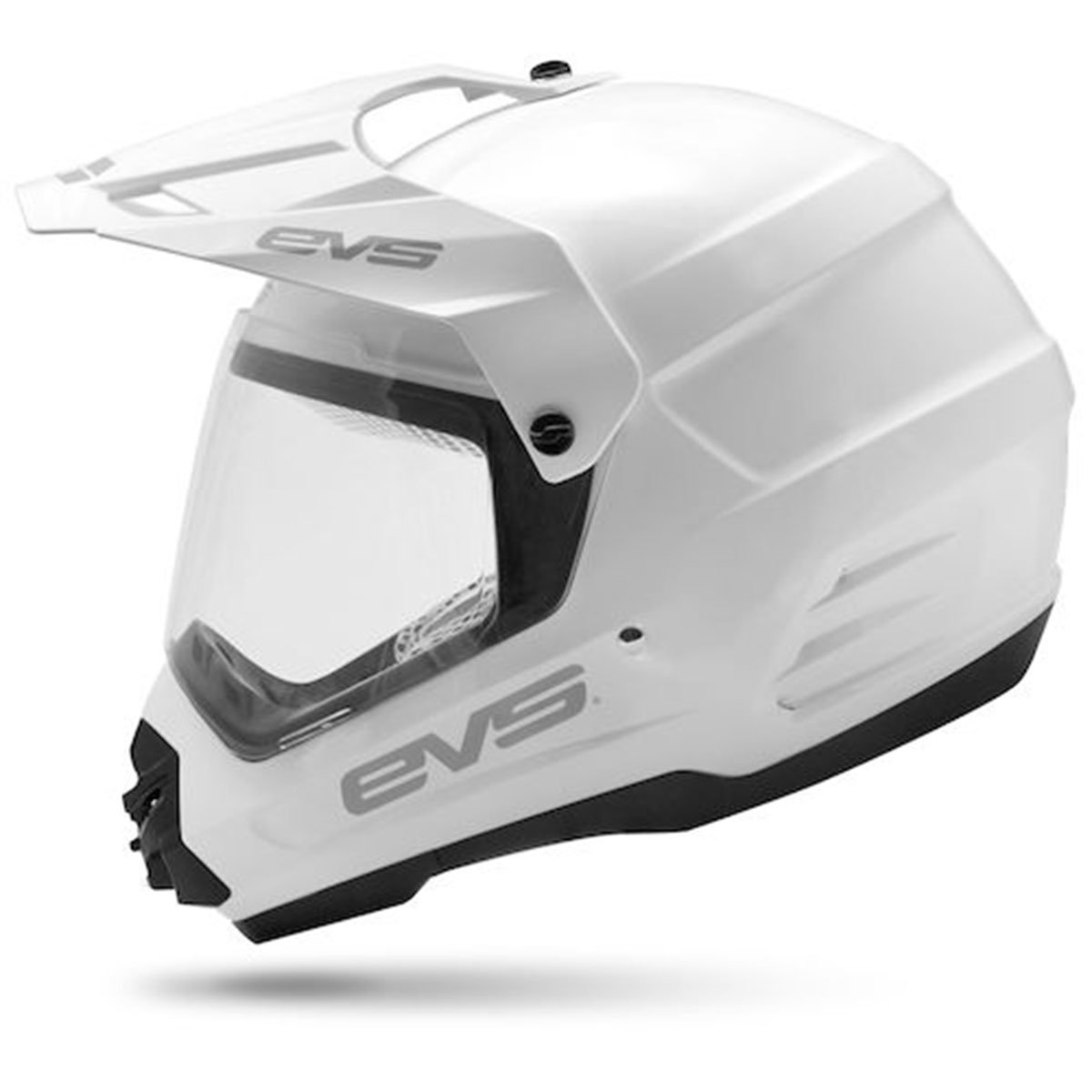 EVS Sports T5 Dual Sport Venture Helmet (White, Medium)