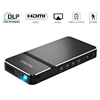 Pico Projector, AKASO Mini Projector Portable 1080P HD DLP LED 50 ANSI Lumens with...
