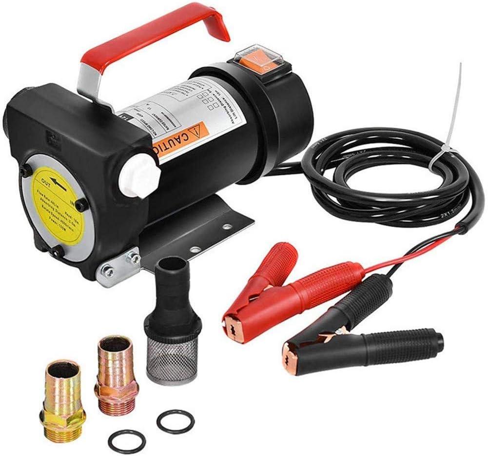 AQzxdc Bomba de Combustible eléctrica, Extractor de Transferencia de Aceite de bioqueroseno Diesel de 10 Gpm, Adecuado Solo para diésel, biodiésel y Queroseno