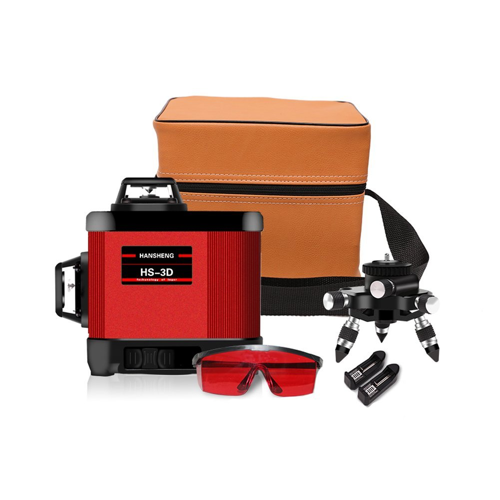 Self-leveling Laser Level-12 Lines 65 ft/20m Indoor Red Cross Line Laser Level,Horizontal and Vertical Lines