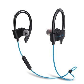 TYWZF Auriculares Bluetooth, Auriculares Inalámbricos Bluetooth 4.1 Cancelación De Ruido Auriculares Magnéticos Estéreos Impermeables Secure Fit para Sport ...