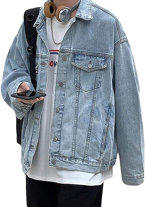 BEIBANGメンズ デニムジャケット ジージャン デニム ジャケット ゆったり Gジャン カジュアル おしゃれ コート 大きいサイズ アウター ストリート 秋