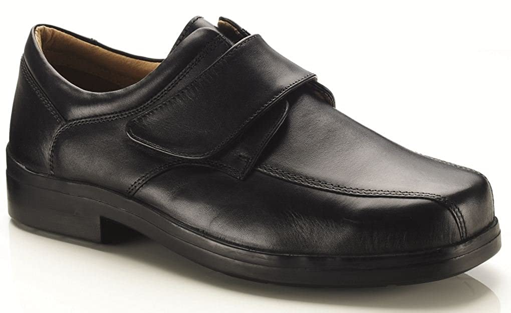 306ce747f3374 Mens New Extra Wide 4e Fitting Black Velcro Shoes