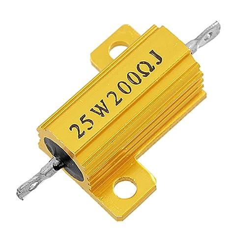 Sourcingmap - a11111000ux0126 25 W 200 Ohm 5% Dorado Tono ...