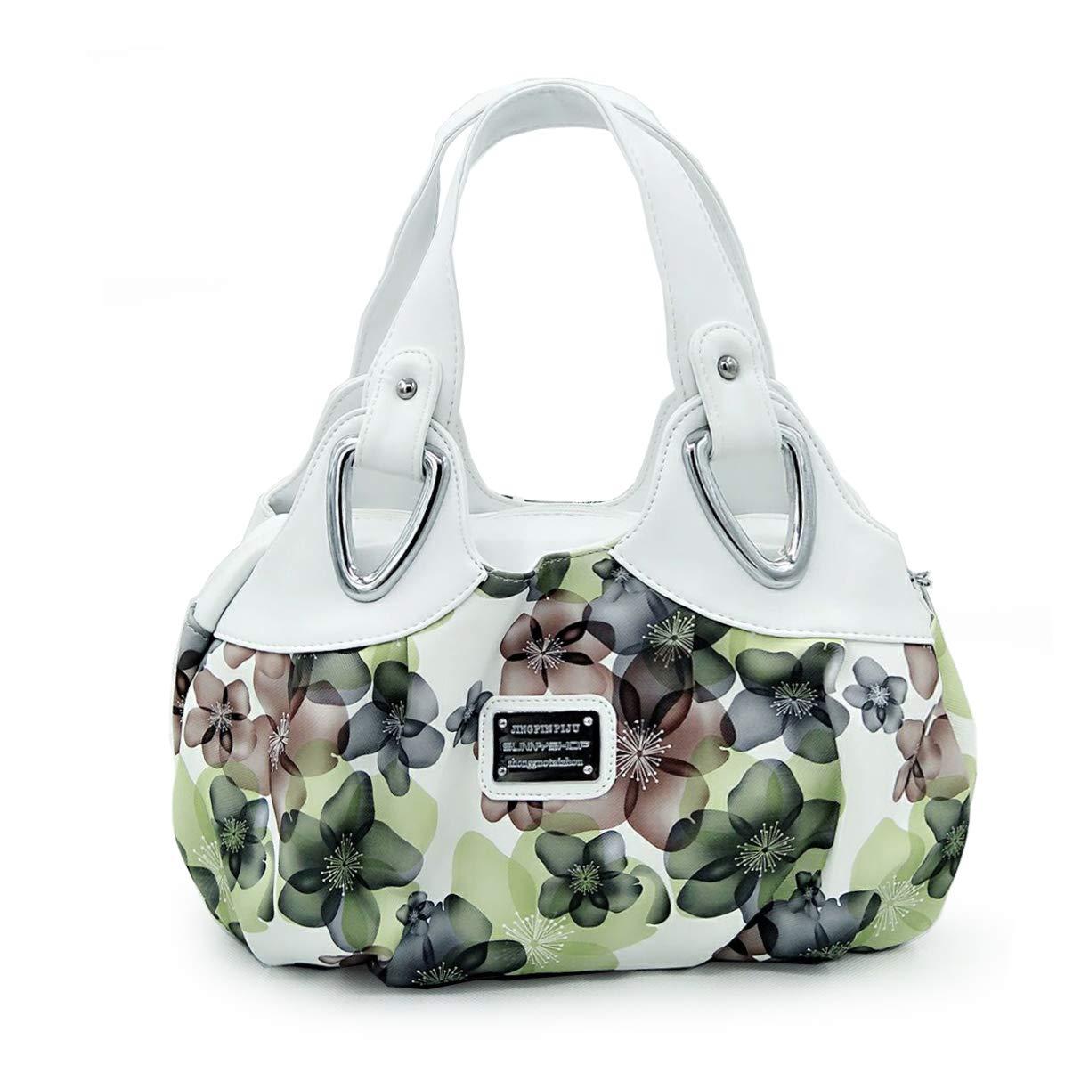 Panzexin Print Floral Bag Medium Handbag for Ladies Top-handle Handbags for Women