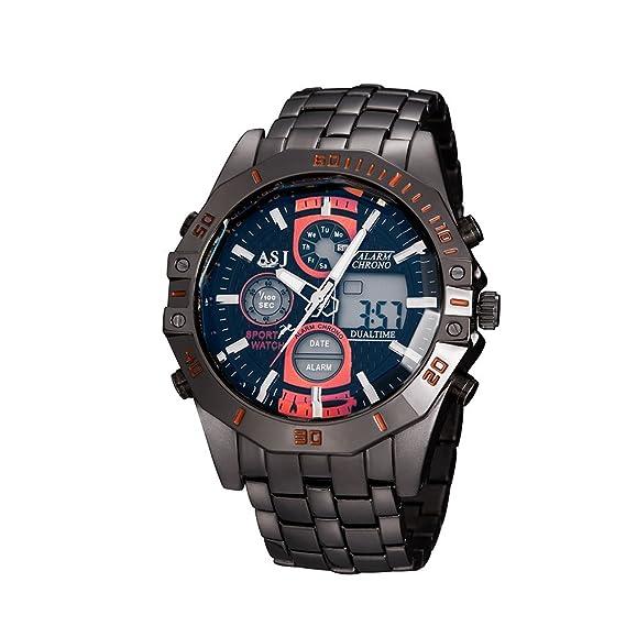 De Hombre Reloj Al Cuarzo AguaAmazon esRelojes Asj Resistente Moda IEH92WD