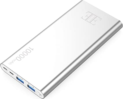 Amazon.com: Eui batería externa, 2 salidas USB, cargador ...