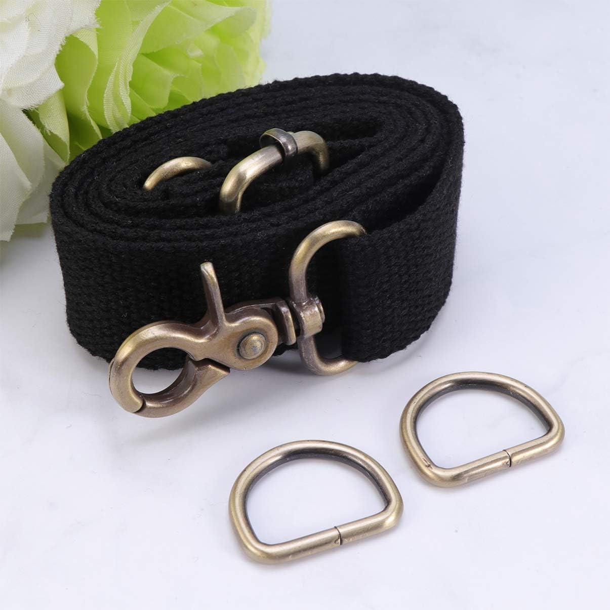 SUPVOX 1PC 3.2cm Shoulder Strap Adjustable Canvas Replacement Belt Crossbody Handbag Purse Strap Black
