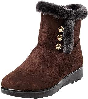 Kaiki Hiver Boots,Bottes d'hiver Courtes de Cheville pour Femme Martin, Fourrure, Chaussures Chaudes,Taille 35-43 Bottes d'hiver Courtes de Cheville pour Femme Martin K181201AA0466