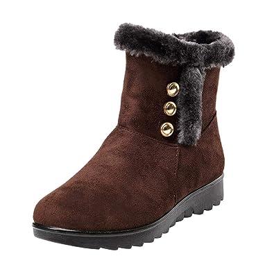 9e4ac16d02fa5 Bottes de Neige,Subfamily Femme Hiver Bottines à Talon Bas Bottes de Neige Ankle  Boots