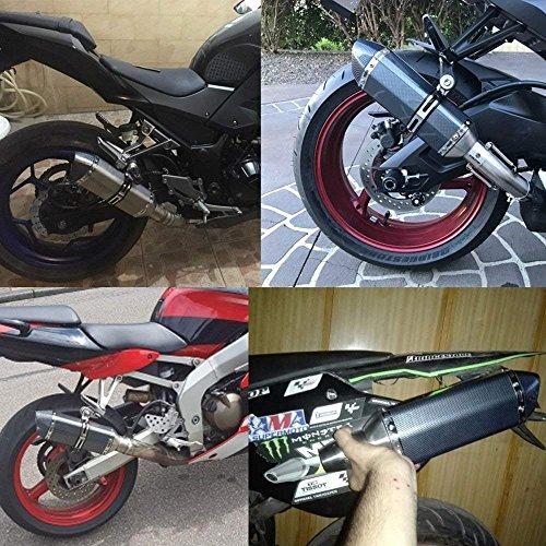 ETbotu 51mm Motorcycle Exhaust Can Pipe Baffle Muffler Silencer Set Noise Sound Eliminator for Motorbike Yamaha Suzuki Kawasaki Honda by ETbotu (Image #7)