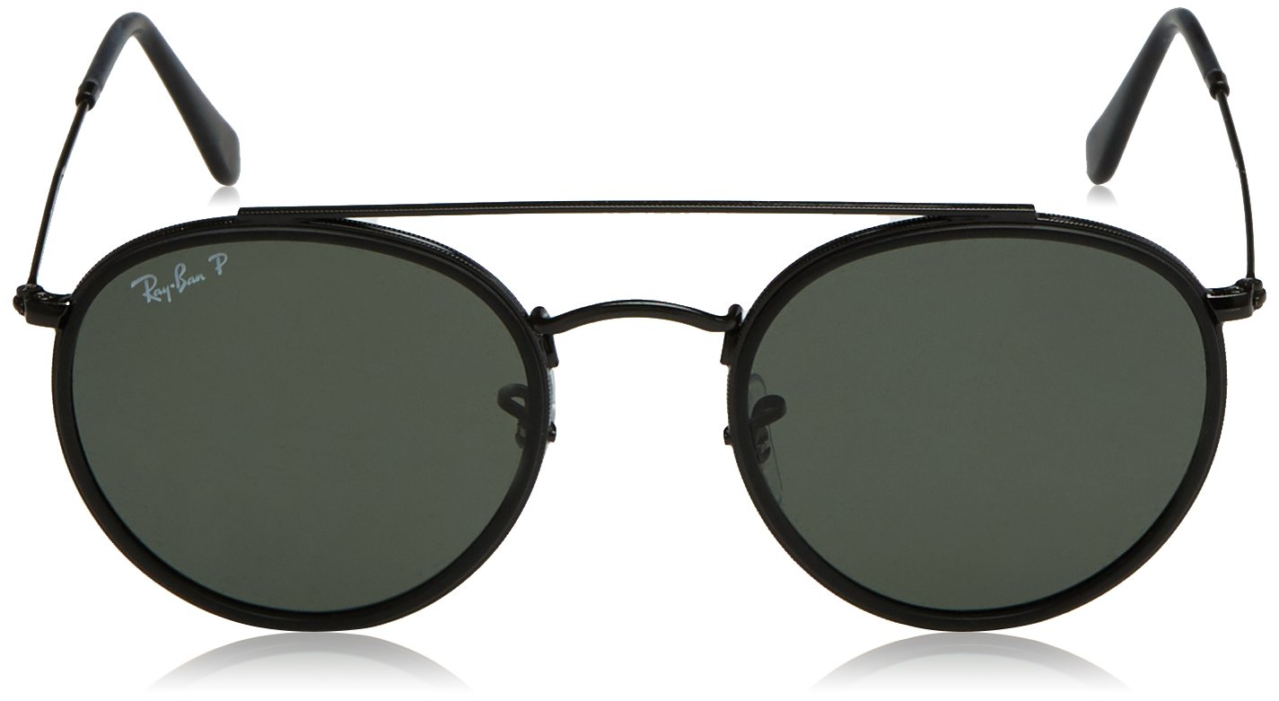 Ray-Ban Metal Unisex Sunglass Polarized Round, BLACK, 51 mm by Ray-Ban (Image #2)